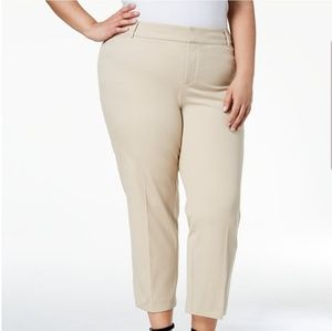 CHARTER CLUB PLUS SIZE 16 18 CROPPED WORK PANTS